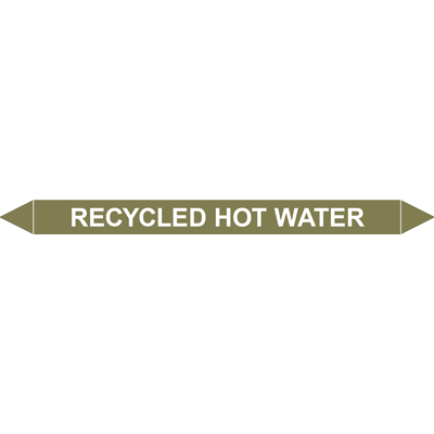 RECYCLED HOT WATER European Pipe Marker