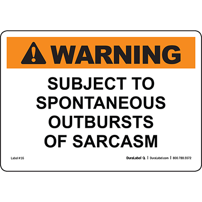 Warning Subject To Spontaneous...