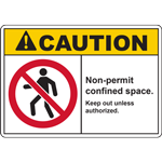 CAUTION Non-permit confined space Keep out unless authorized SIGN