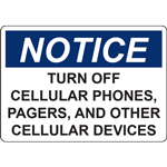 NOTICE TURN OFF CELLULAR PHONES,  PAGERS, AND OTHER CELLULAR DEVICES SIGN