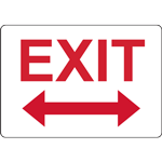 EXIT WITH BIDIRECTIONAL ARROW SIGN