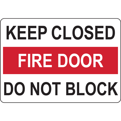 KEEP CLOSED FIRE DOOR DO NOT BLOCK SIGN