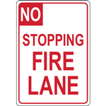 NO STOPPING FIRE LANE SIGN
