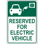 RESERVED FOR ELECTRIC VEHICLE SIGN