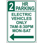 45 MIN VEHICLE  CHARGING ONLY 7AM-8:30PM MON-SAT SIGN
