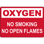 OXYGEN NO SMOKING NO OPEN FLAMES SIGN