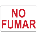 NO FUMAR WITHOUT SYMBOL SIGN