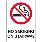 NO SMOKING OR STAIRWAY SIGN