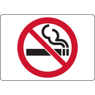 NO SMOKING 1D SYMBOL SIGN
