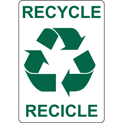 RECYCLE RECICLE SIGN
