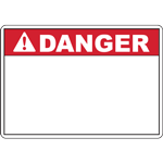 ANSI DANGER Header Red Sign