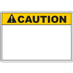 ANSI CAUTION Header Yellow Sign