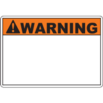 ANSI WARNING Header Orange Sign