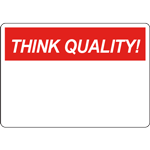 THINK QUALITY Header Red Sign