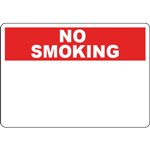NO SMOKING Header Red Sign