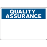QUALITY ASSURANCE Header Blue Sign