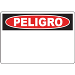 OSHA PELIGRO Header Red and Black Sign