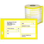Materiel Condition Tags DD Form 1574 Yellow