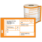 Materiel Condition Tags DD Form 1574 Orange