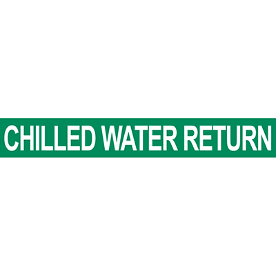 Chilled Water Return Pipe Marker