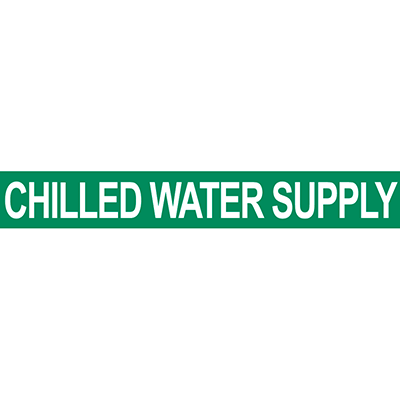 Chilled Water Supply Pipe Marker