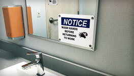 Cleanliness Signs & Labels