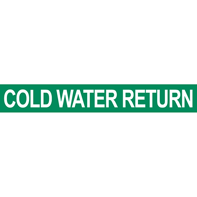 Cold Water Return Pipe Marker