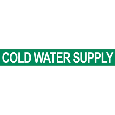 Cold Water Supply Pipe Marker