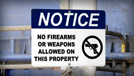 Concealed Weapons Signs