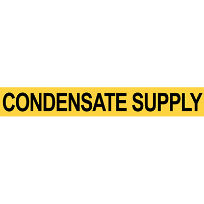 Pre-2007 ANSI Condensate Supply Pipe Marker