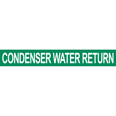 Condenser Water Return Pipe Marker