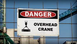 Construction Crane Hoist Signs