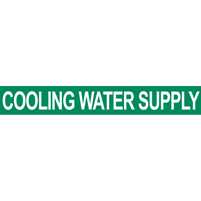 Cooling Water Supply Pipe Marker