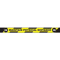 "Maintain Physical Distance 2M Rectangle Floor Sign 36""x3"""