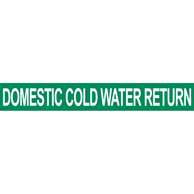 Domestic Cold Water Return Pipe Marker