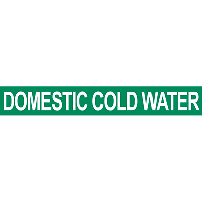 Domestic Cold Water Pipe Marker