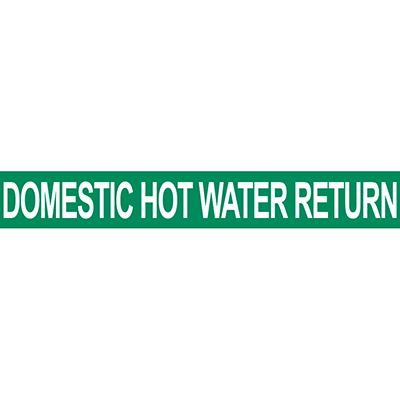 Domestic Hot Water Return Pipe Marker