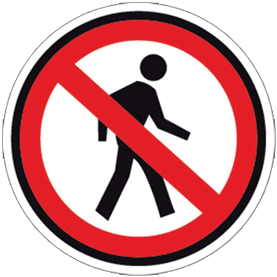 Dont Walk Floor Sign