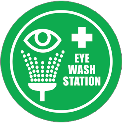 Eye Wash Station Floor Sign