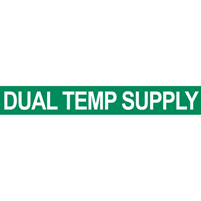 Dual Temp Supply Pipe Marker