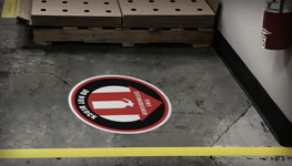 Fire Safety Floor Signs