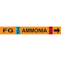 Foul Gas Ammonia Pipe Markers