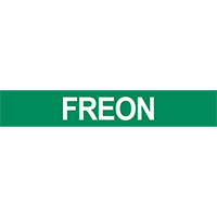 Pre-2007 ANSI Freon Pipe Marker