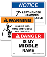 Funny Signs & Labels