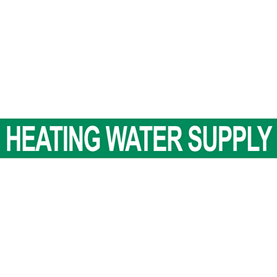 Heat Water Supply Pipe Marker
