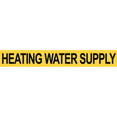 Pre-2007 ANSI Heat Water Supply Pipe Marker