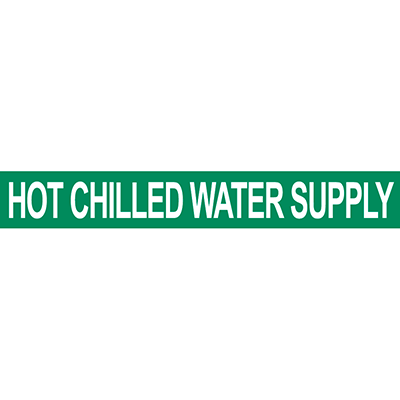 Hot Chilled Water Supply Pipe Marker