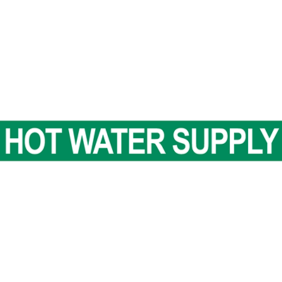 Hot Water Supply Pipe Marker