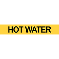 Pre-2007 ANSI Hot Water Pipe Marker