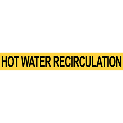 Pre-2007 ANSI Hot Water Recirculation Pipe Marker